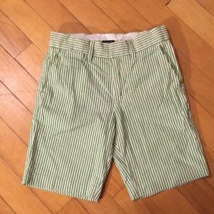 Crewcuts, Seersucker Shorts, Size 7, Green